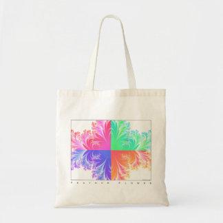 Flor de la pluma del fractal bolsa tela barata