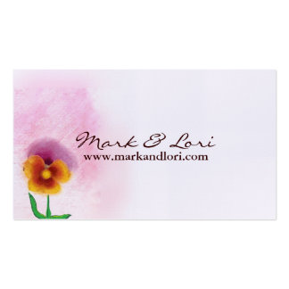 Flor de la primavera de la acuarela tarjetas de visita