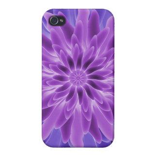 Flor de la púrpura del arte abstracto iPhone 4 cobertura