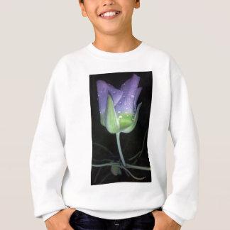 flor de la púrpura del rocío sudadera