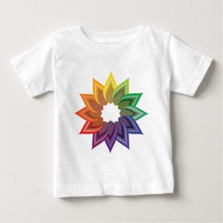 Flor de la rueda de color tee shirt