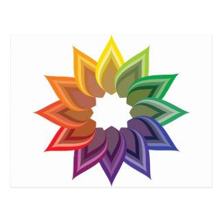 Flor de la rueda de color tarjeta postal