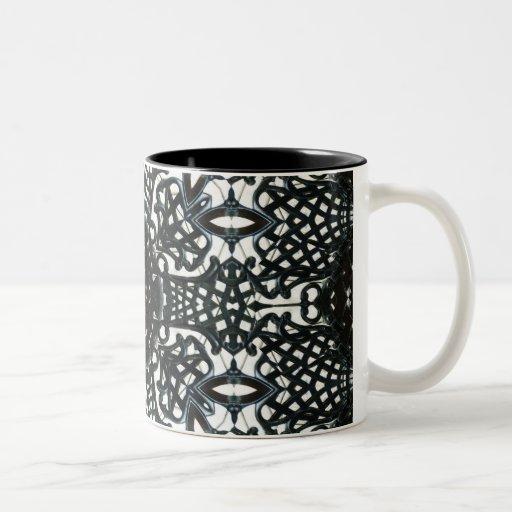 Flor de la silla taza de café de dos colores