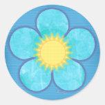Flor de la sol de la aguamarina