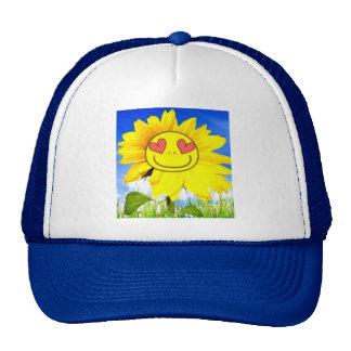 Flor de la sol te quiero así pues dicha feliz di gorras de camionero