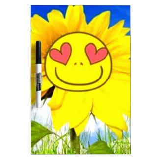 Flor de la sol, te quiero así pues, dicha feliz di pizarra