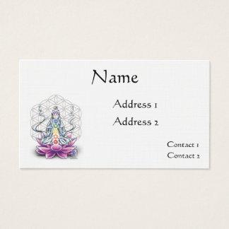 Flor de la tarjeta de la cita de la diosa del