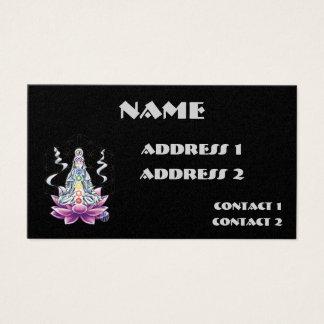 Flor de la tarjeta de visita de la diosa del