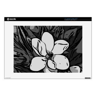 Flor de la tinta de Black&White Skins Para Portátil