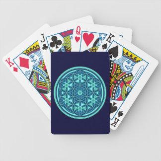 Flor de la vida - abotone el estilo 1 - DES Lebens Baraja Cartas De Poker