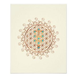 Flor de la vida, árbol de la vida, Kabbalah, Flyer A Todo Color