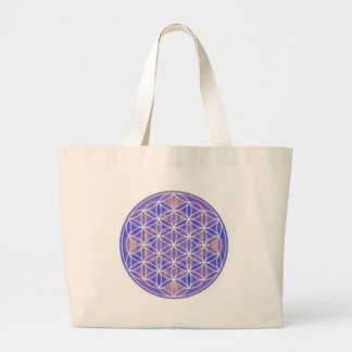Flor de la vida (color 3) bolsa tela grande