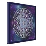 FLOR de la VIDA - cubo de Metatron del arcángel Impresion En Lona