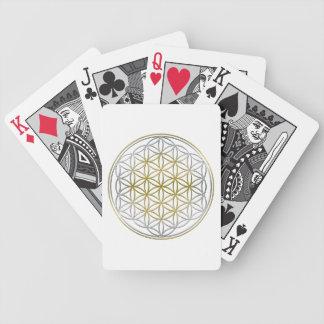 FLOR DE LA VIDA/de DES Lebens de Blume - bicolor Baraja Cartas De Poker