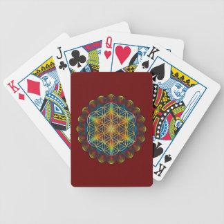 FLOR DE LA VIDA/de DES Lebens - mandala III de Blu Baraja Cartas De Poker