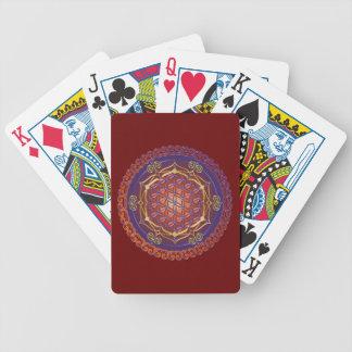 FLOR DE LA VIDA/DES Lebens de Blume - adorne I Baraja Cartas De Poker