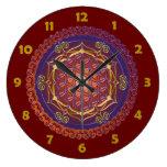 FLOR DE LA VIDA/DES Lebens de Blume - adorne I Reloj Redondo Grande