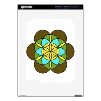Flor de la vida Earth2 Pegatina Skin Para iPad 3