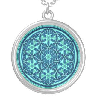 Flor de la vida - estilo 01 del botón joyerias personalizadas