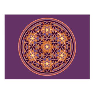 Flor de la vida - estilo 02 del botón tarjetas postales