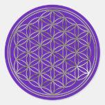 /flor de la vida, Flower Of Life | silver violet