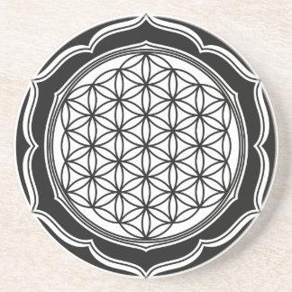 Flor de la vida, geometría sagrada, símbolo posavasos para bebidas