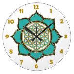 FLOR DE LA VIDA - loto + números de la cara de rel Relojes