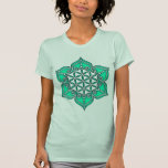 Flor de la vida, Lotus, corazón Chakra/ Camiseta