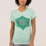 Flor de la vida, Lotus, corazón Chakra/ T Shirts