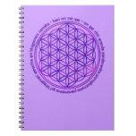 Flor de la vida - mantra de Moola - violeta Libretas Espirales