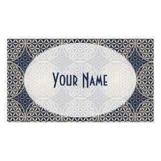 Flor de la vida - modelo del sello - arena azul tarjetas de visita
