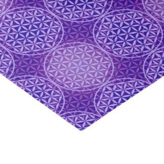 Flor de la vida - modelo del sello - púrpura papel de seda pequeño