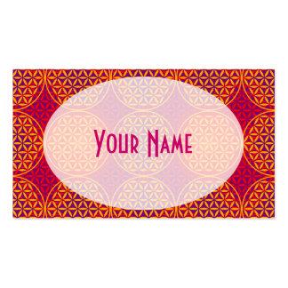 Flor de la vida - modelo del sello - rosa del tarjetas de visita
