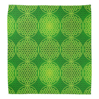 Flor de la vida - modelo del sello - verde bandanas