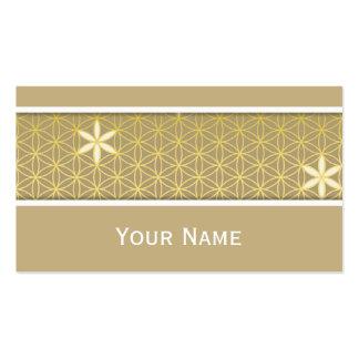 Flor de la vida - modelo inconsútil - de oro tarjetas de visita