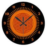 Flor de la vida - naranja soleado - cara de reloj