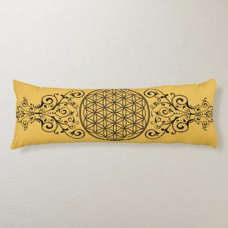 Flor de la vida - negro I de los ornamentos + su Cojin Cama