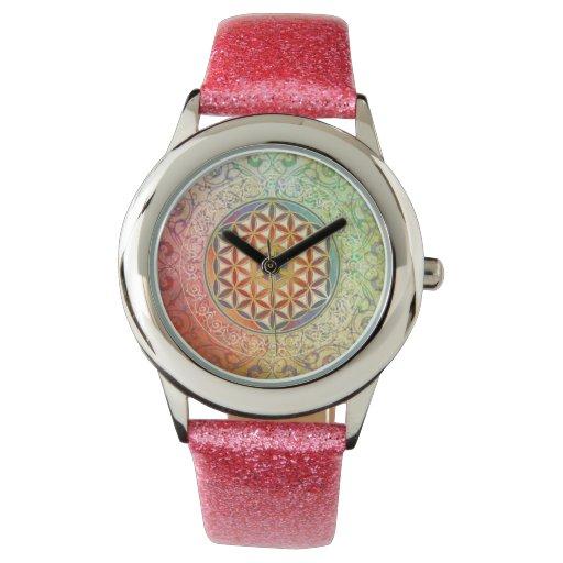 Flor de la vida - ornamento I Relojes De Mano