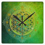 Flor de la vida - ornamento II Reloj