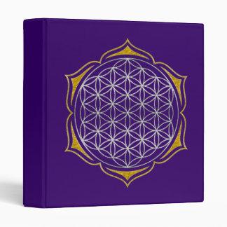 Flor de la vida - oro de plata de Lotus