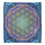 Flor de la vida - oro - fractal 1 bandanas