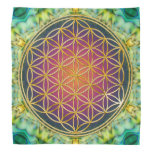Flor de la vida - oro - fractal 2 bandanas