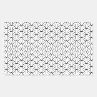 Flor de la vida rectangular pegatinas
