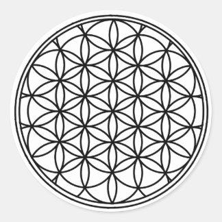 Flor de la vida pegatina redonda