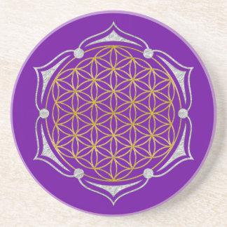 Flor de la vida - plata del oro de Lotus Posavaso Para Bebida