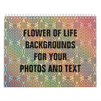 Flor de la vida - selle el modelo 1 del grunge calendario