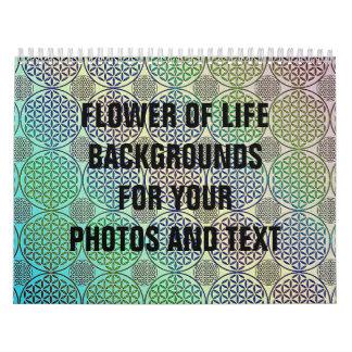 Flor de la vida - selle el modelo 2 del grunge calendarios de pared
