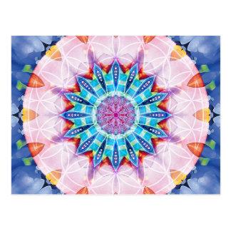 Flor de las tarjetas de la mandala 12 de la vida postal