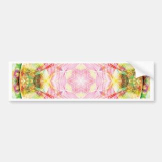 Flor de las tarjetas de la mandala 17 de la vida etiqueta de parachoque