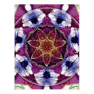 Flor de las tarjetas de la mandala 8 de la vida tarjetas postales